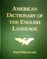 American Dictionary of the English Language, Noah Webster 1828, original facsimile edition (Scratch & Dent)