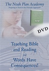 The Noah Plan Academy: Teaching Bible and Reading & Words have Consequences! DVD
